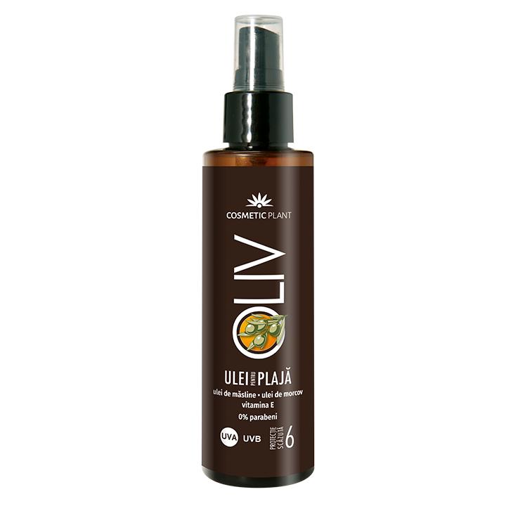 Ulei pentru plaja SPF 6 Oliv, 150 ml, Cosmetic Plant
