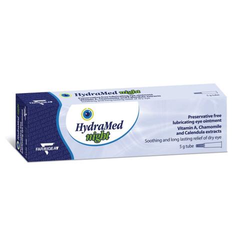 Unguent oftalmic lubrifiant Hydramed Night, 5 g, Farmigea