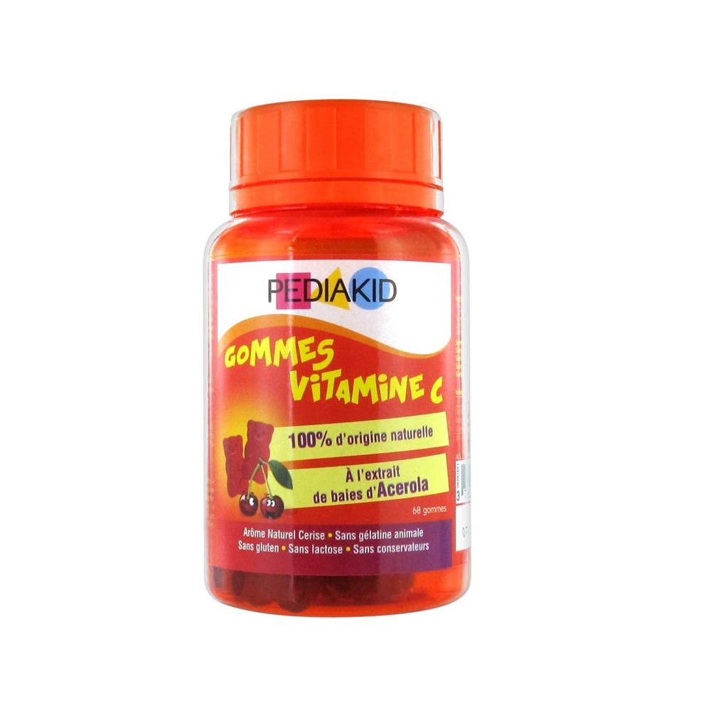 Ursuleți gumați cu vitamina C naturală, 60 ursuleți, Pediakid