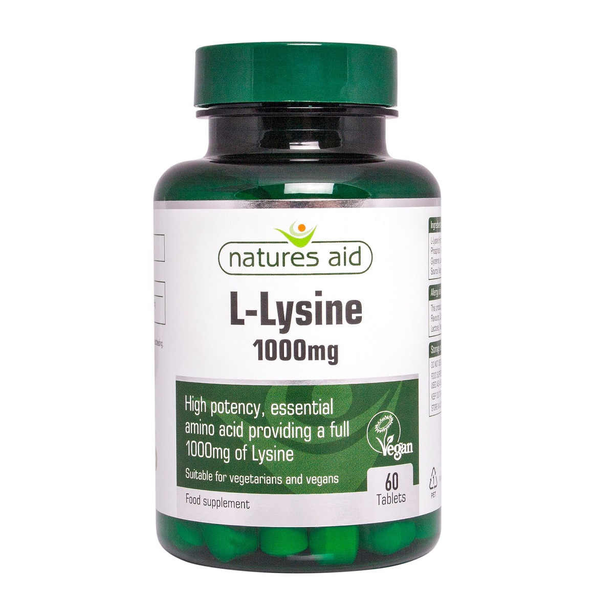 L-Lysine 1000mg, 60 tablete, Natures Aid