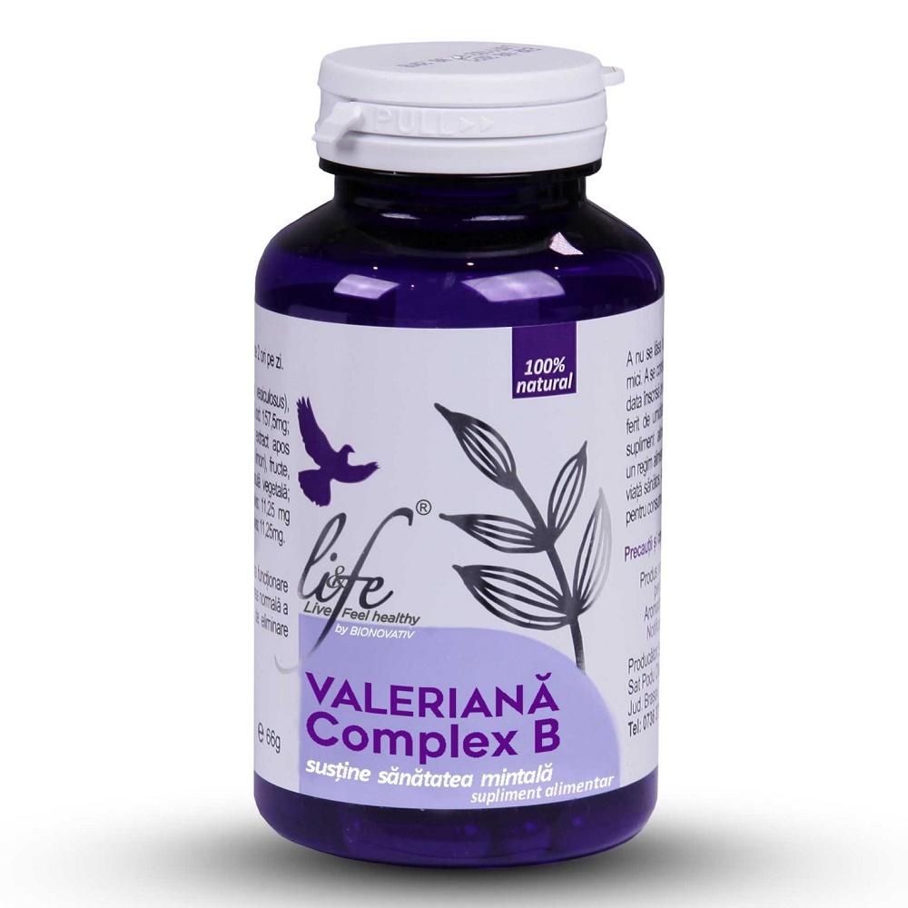 Valeriana Complex B, 60 capsule, Bionovativ