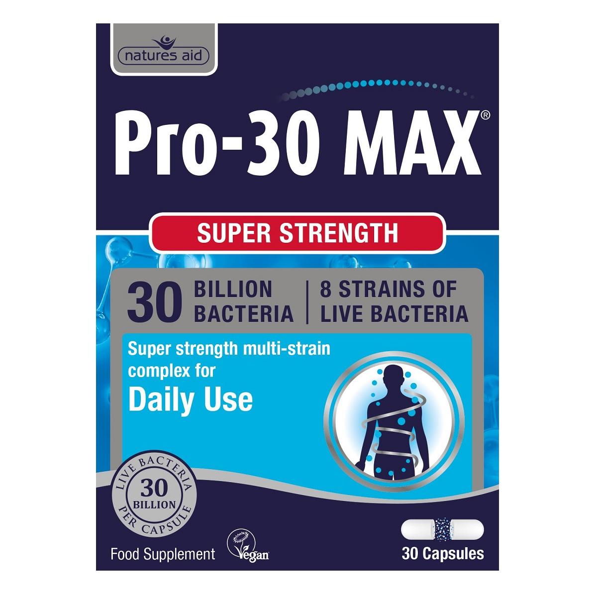 Pro-30 Max, 30 capsule, Natures Aid