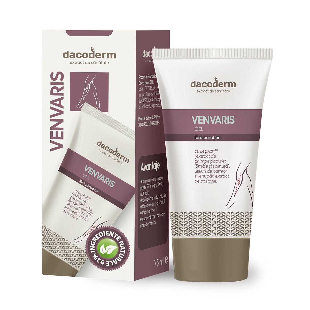 Gel Venvaris Dacoderm, 75 ml, Dacia Plant