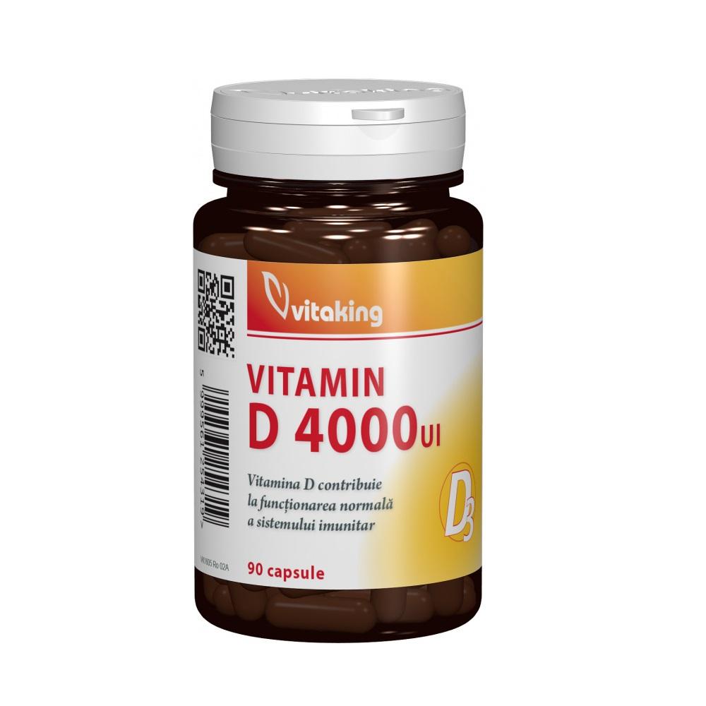 Vitamina D 4000 UI, 90 capsule, Vitaking