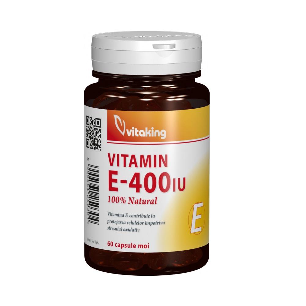 Vitamina E natural 400 UI, 60 capsule, VitaKing