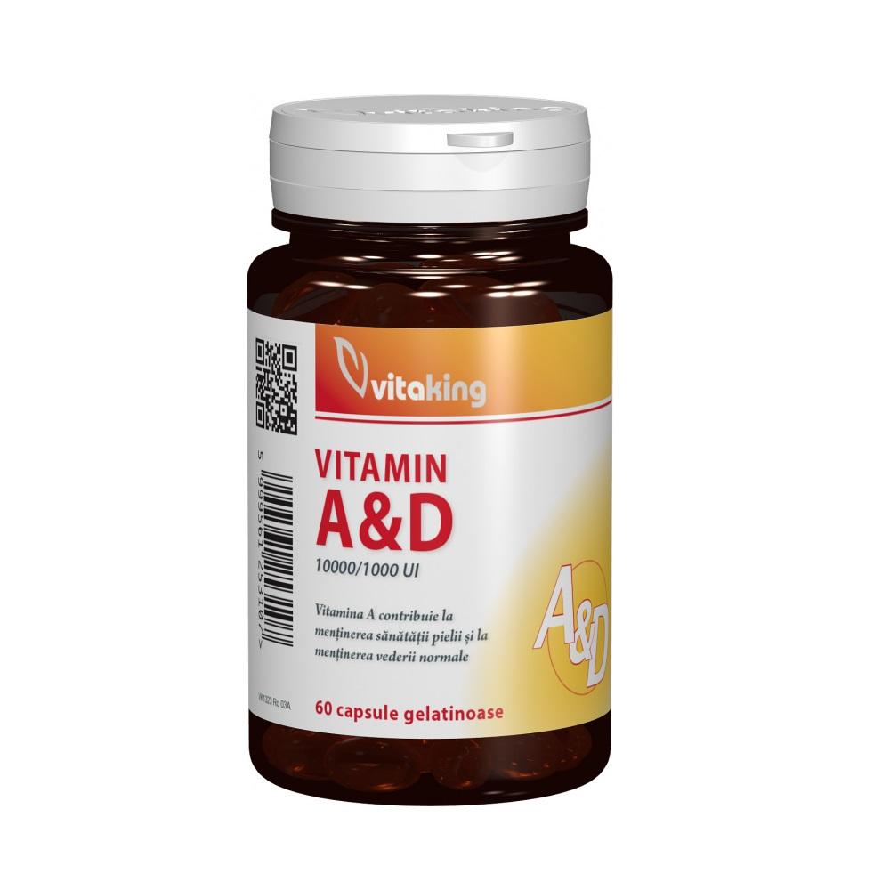 Viamina A și D, 60 capsule, Vitaking