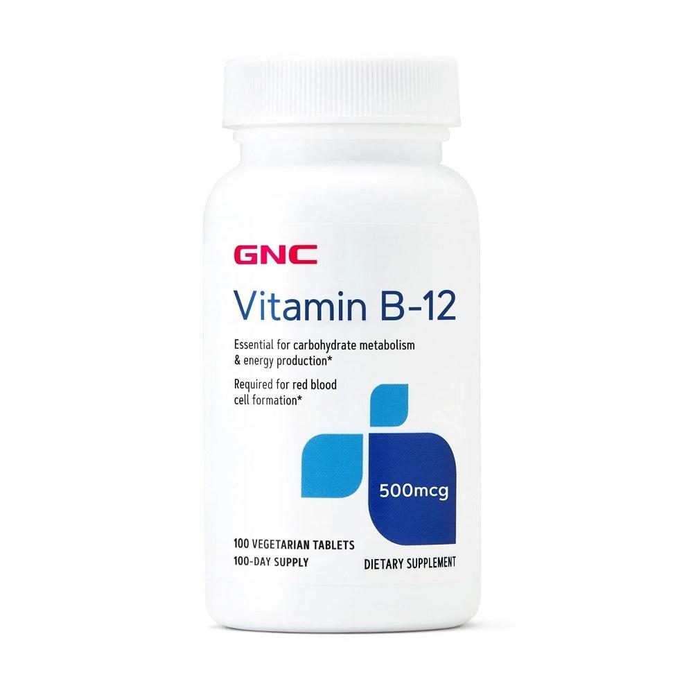 Vitamina B-12 500 mcg (099319), 100 tablete, GNC