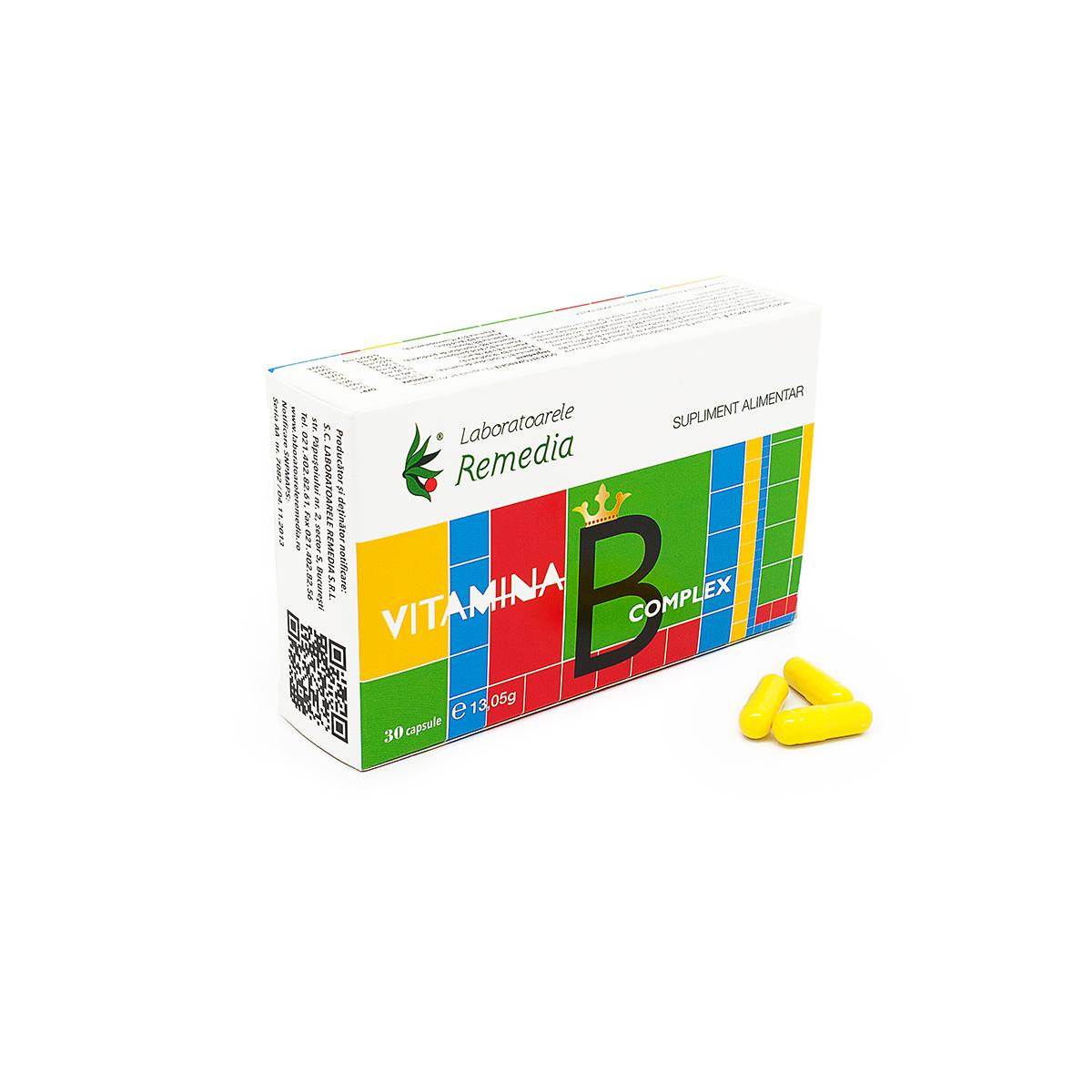 Vitamina B complex, 30 capsule, Remedia
