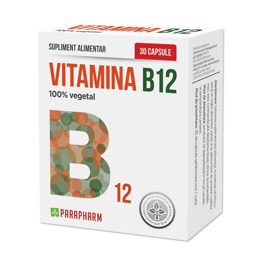 Vitamina B12, 30 capsule, Parapharm