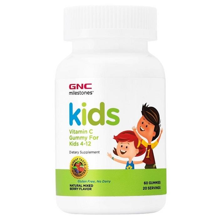 Vitamina C cu aroma de fructe de padure Milestones Kids 504211, 60 jeleuri, GNC