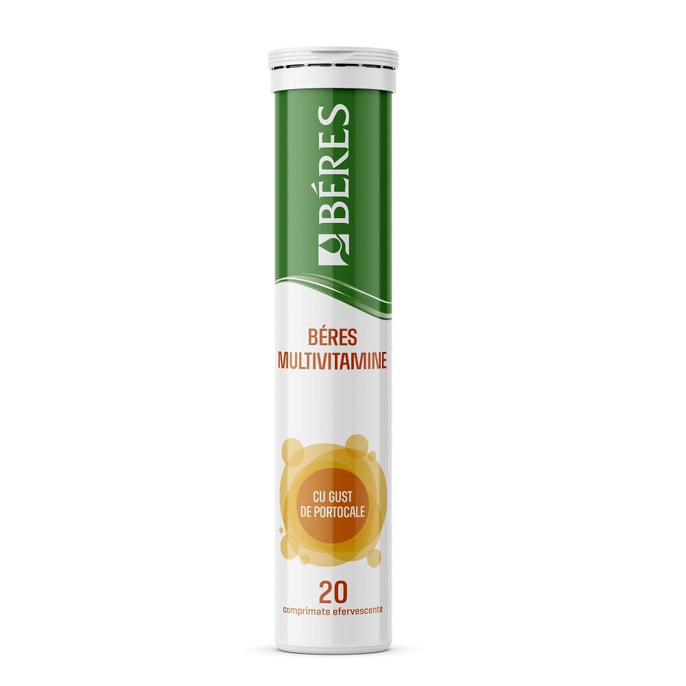Multivitamine cu gust de portocale, 20 comprimate, Beres Pharmaceuticals Co