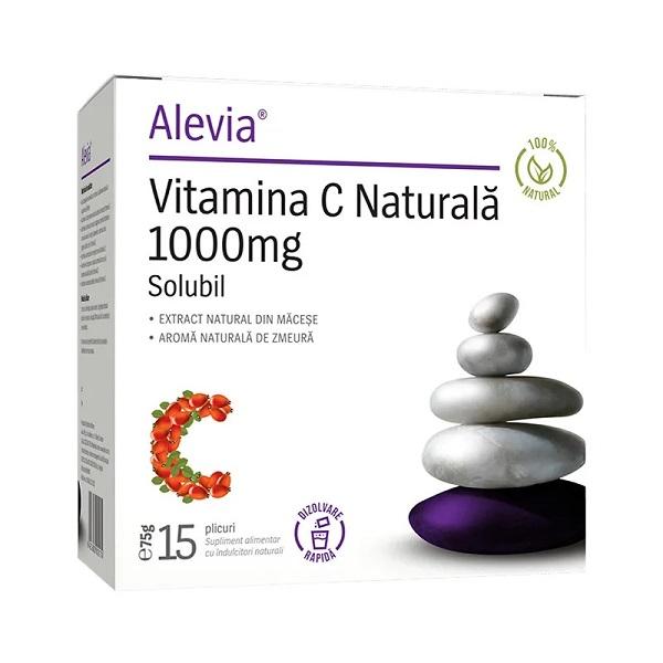 Vitamina C Naturală 1000 mg, 15 plicuri, Alevia