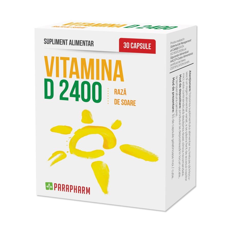 Vitamina D 2400, 30 capsule, Parapharm