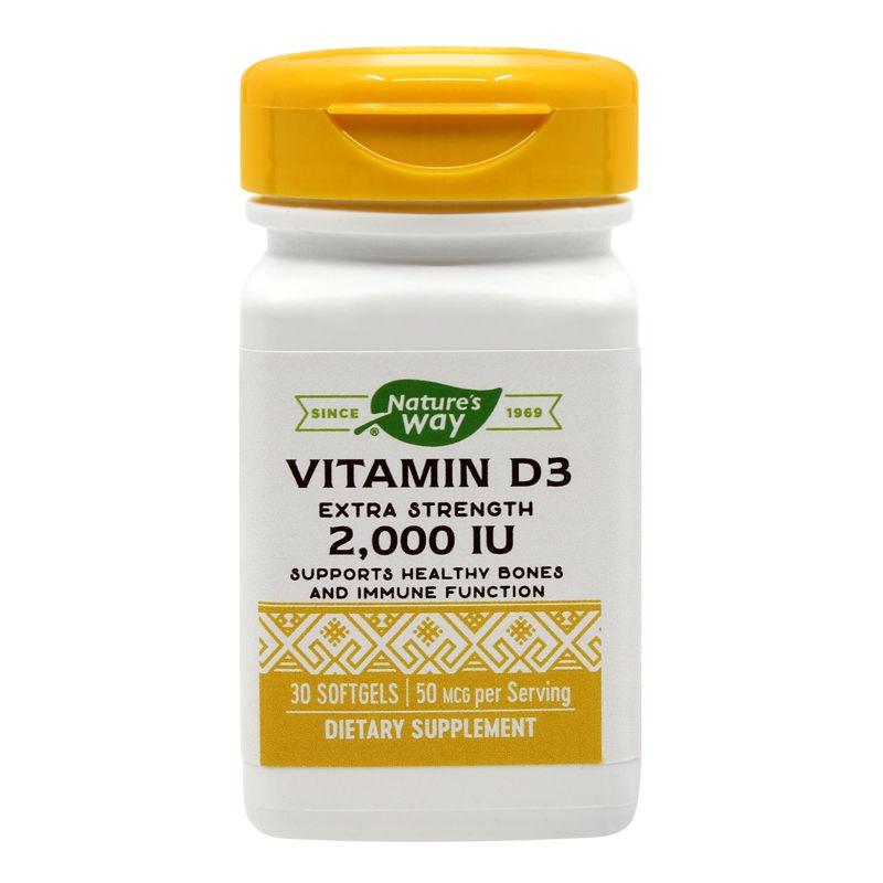 Vitamina D3 2000 UI Nature's Way, 30 capsule, Secom