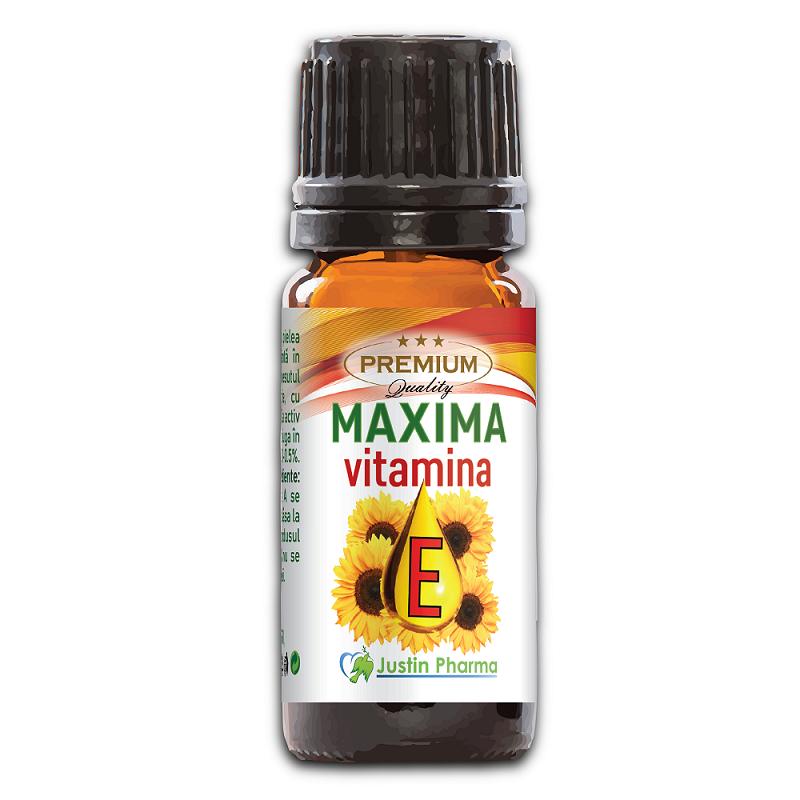 Vitamina E lichida Maxima, 10 ml, Justin Pharma