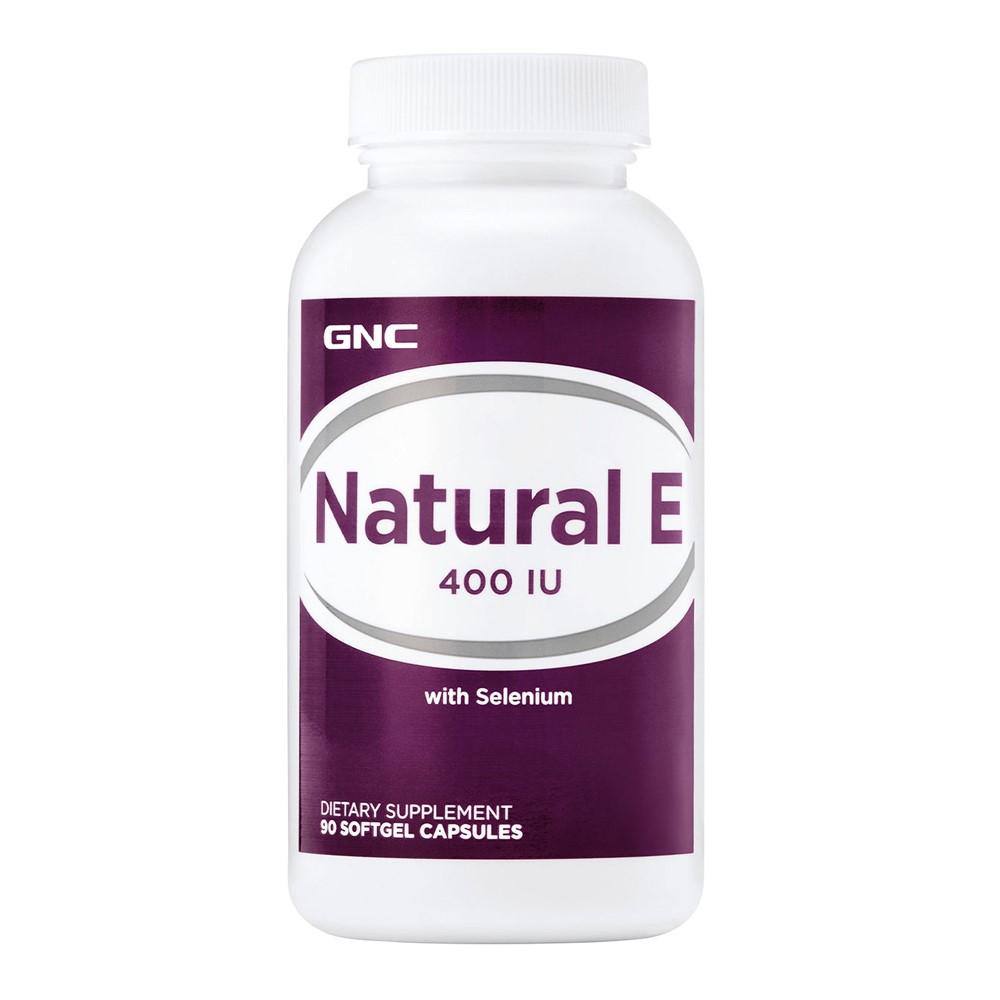 Vitamina E Naturala 400 IU cu Seleniu (077967), 90 capsule, GNC
