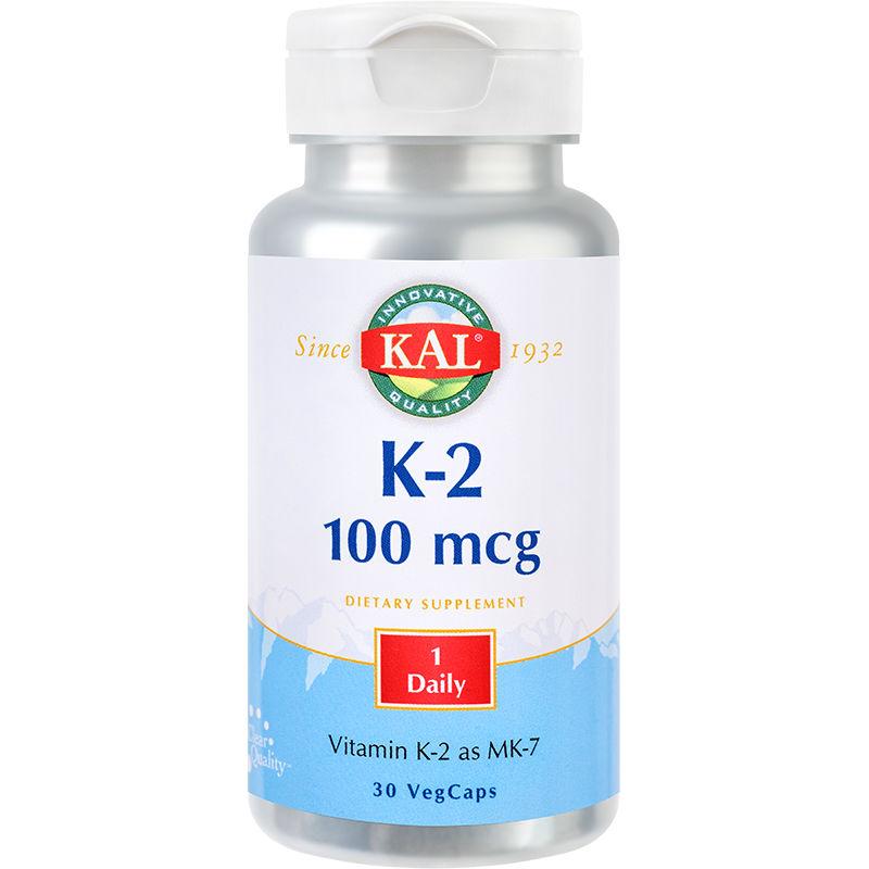 Vitamina K2 100 mcg Kal, 30 capsule, Secom