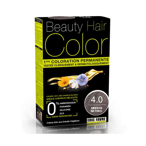 Vopsea de par cu extracte vegetale si bumbac Saten Natural, Nuanta 4.0, 160 ml, Beauty Hair Color