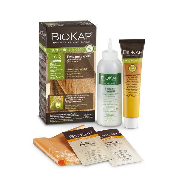 Vopsea pentru păr Nutricolor Delicato Rapid, Nuanţa Extra Light Golden Blond 9.3, 135 ml, Biokap