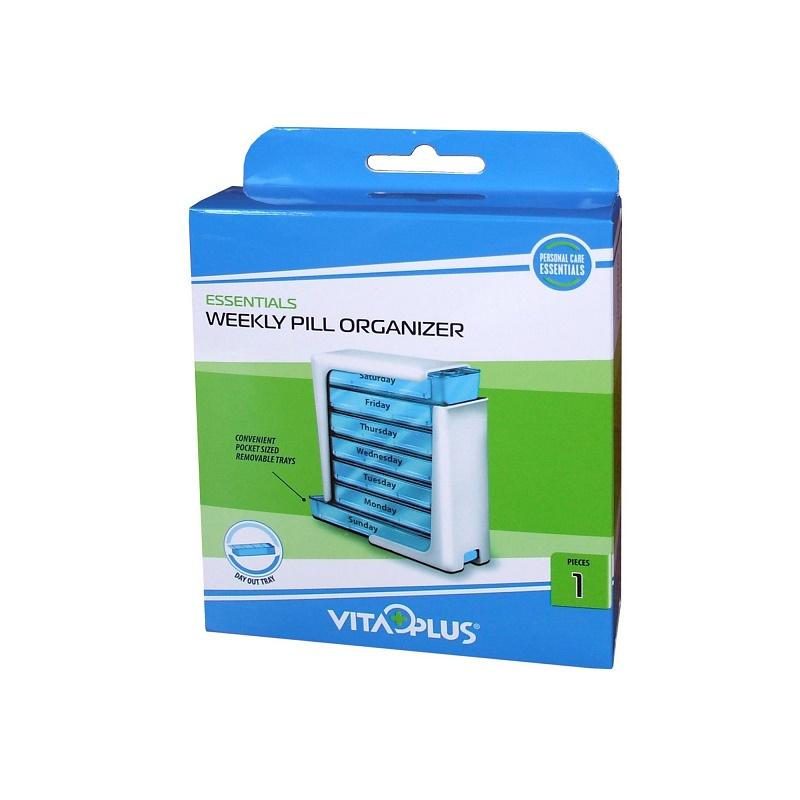 Organizator săptămânal pentru medicamente VP64071, Vitaplus