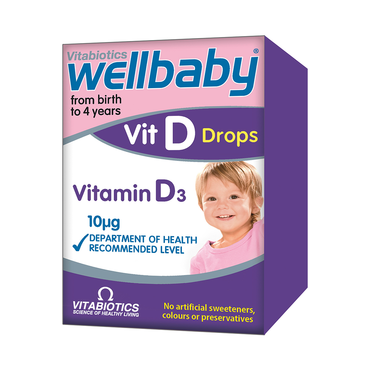 Wellbaby Vitamina D picaturi, 30 ml, Vitabiotics