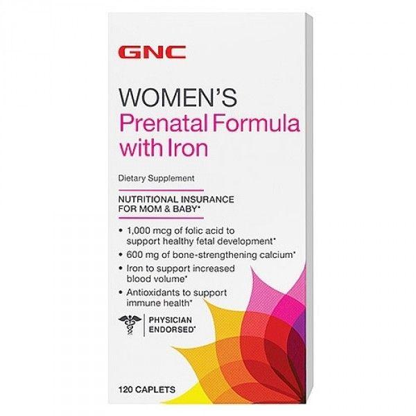 Women`s Prenatal Formula cu Fier (286322), 120 tablete, GNC