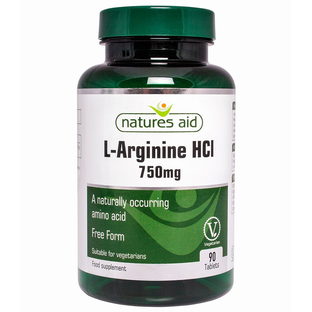 L-Arginine 750 mg, 90 comprimate, Natures Aid
