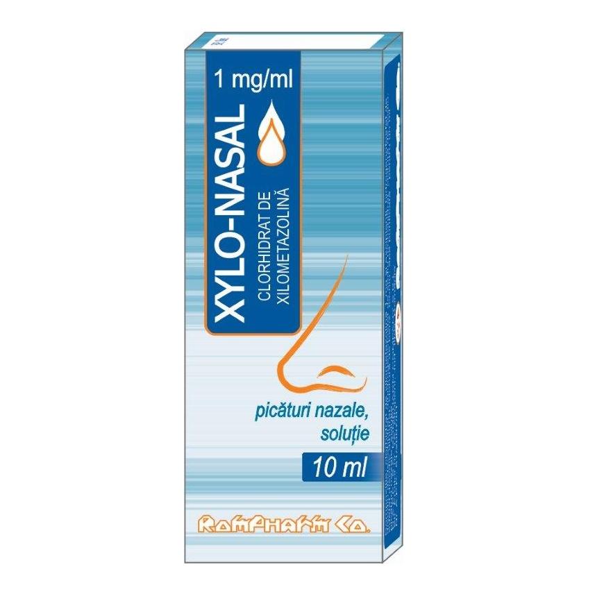 Xylo-nasal 0,1%, picaturi nazale solutie, 10 ml, Rompharm