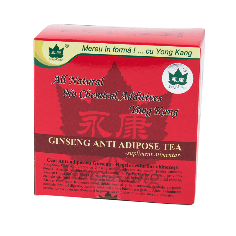Ceai antiadipos cu Ginseng, 30 plicuri, Yong Kang