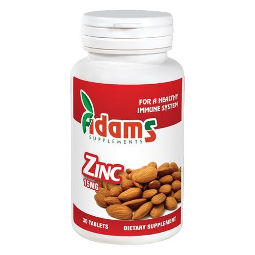 Zinc 15mg, 30 tablete, Adams Vision
