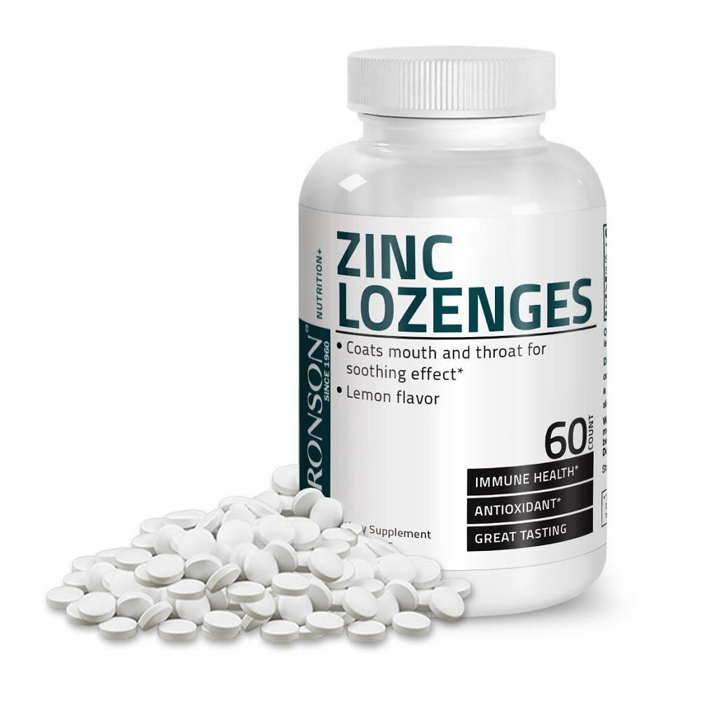 Zinc 23 mg, 60 tablete masticabile, Bronson Laboratories